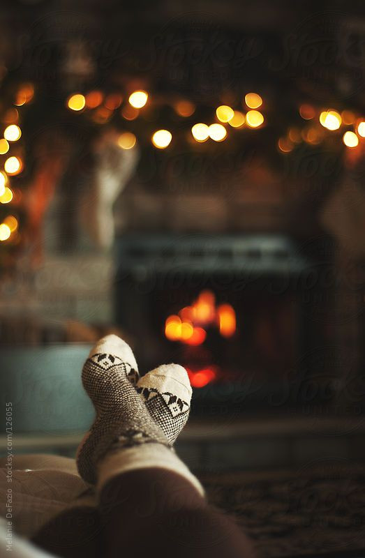 Christmas Sock Fireplace  The Holiday – Verbena