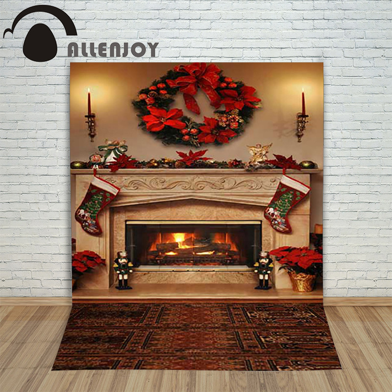Christmas Sock Fireplace  Aliexpress Buy Christmas children s photo background