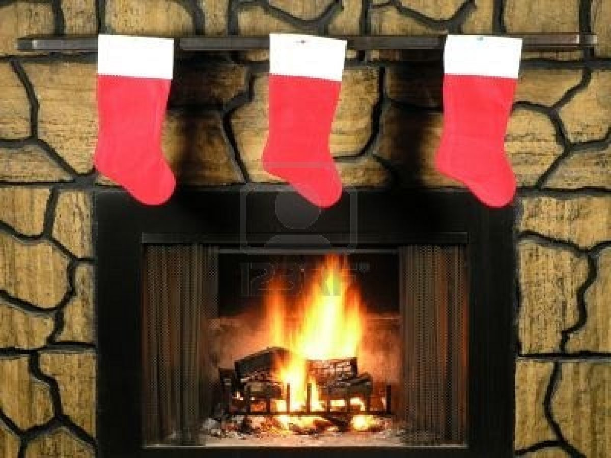 Christmas Sock Fireplace  The Free 09 12 11