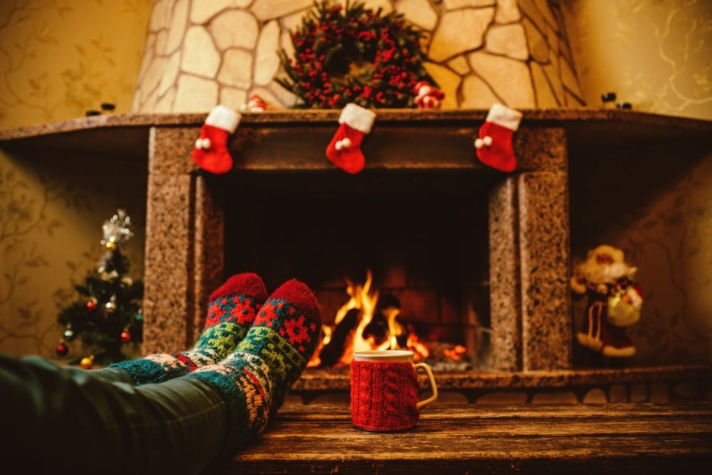 Christmas Sock Fireplace  Top 5 Reasons to Celebrate the Holidays at Our Smoky
