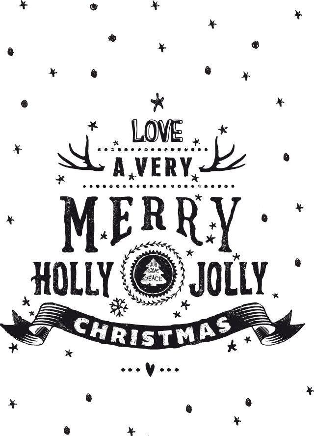 Christmas Story Dad Swearing Quotes  モノトーンでオシャレな雰囲気の 手作りで作る可愛いクリスマスカード参考例