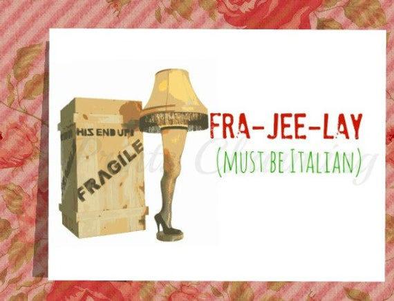 Christmas Story Fragile Quote  Items similar to A Christmas Story Fragile Leg Lamp Major