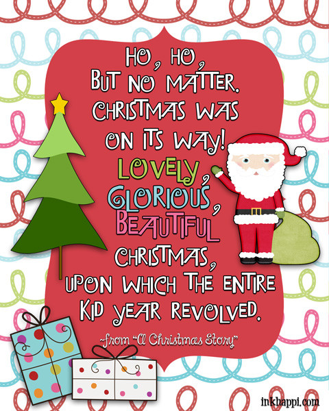 Christmas Story Quotes  Christmas Movie Quotes free printables inkhappi