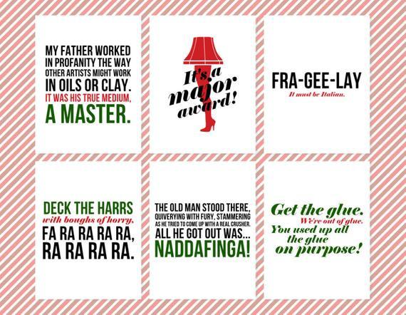 Christmas Story Quotes  The Christmas Story Quote Wall Decor Printable Christmas