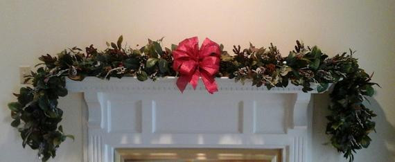 Christmas Swags For Fireplace  Christmas Fireplace Mantel Garland Swag SHIPPING INCLUDED