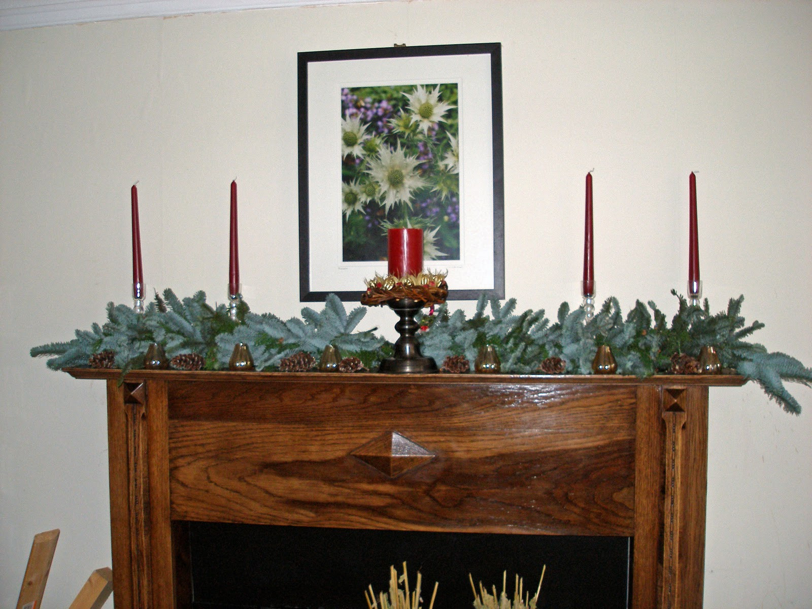 Christmas Swags For Fireplace  greengarland Blue spruce swags on English handmade rope