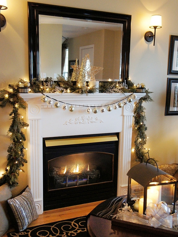Christmas Swags For Fireplace  Top 40 Christmas Mantelpiece Decorations Ideas – Christmas