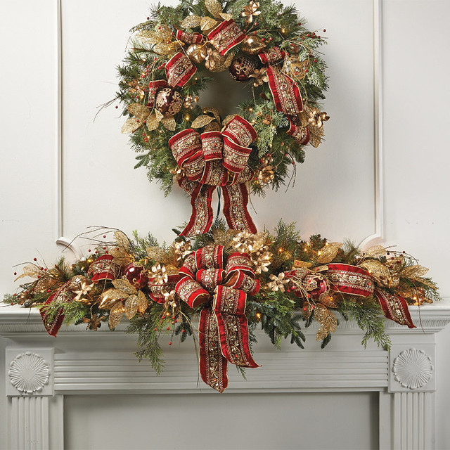 Christmas Swags For Fireplace  301 Moved Permanently