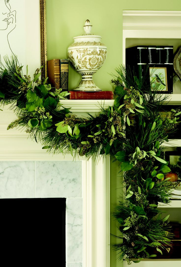 Christmas Swags For Fireplace  17 Best images about Christmas on Pinterest