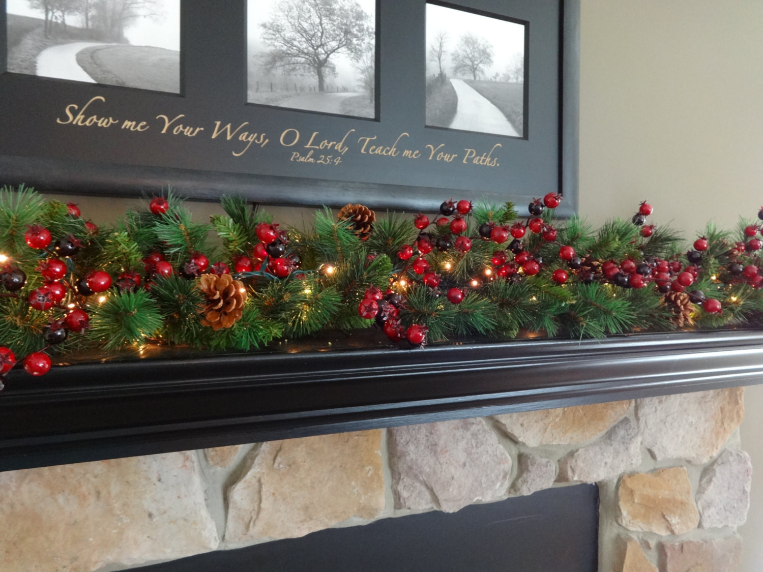 Christmas Swags For Fireplace  Christmas Decoration Mantle Garland Mantel Garland