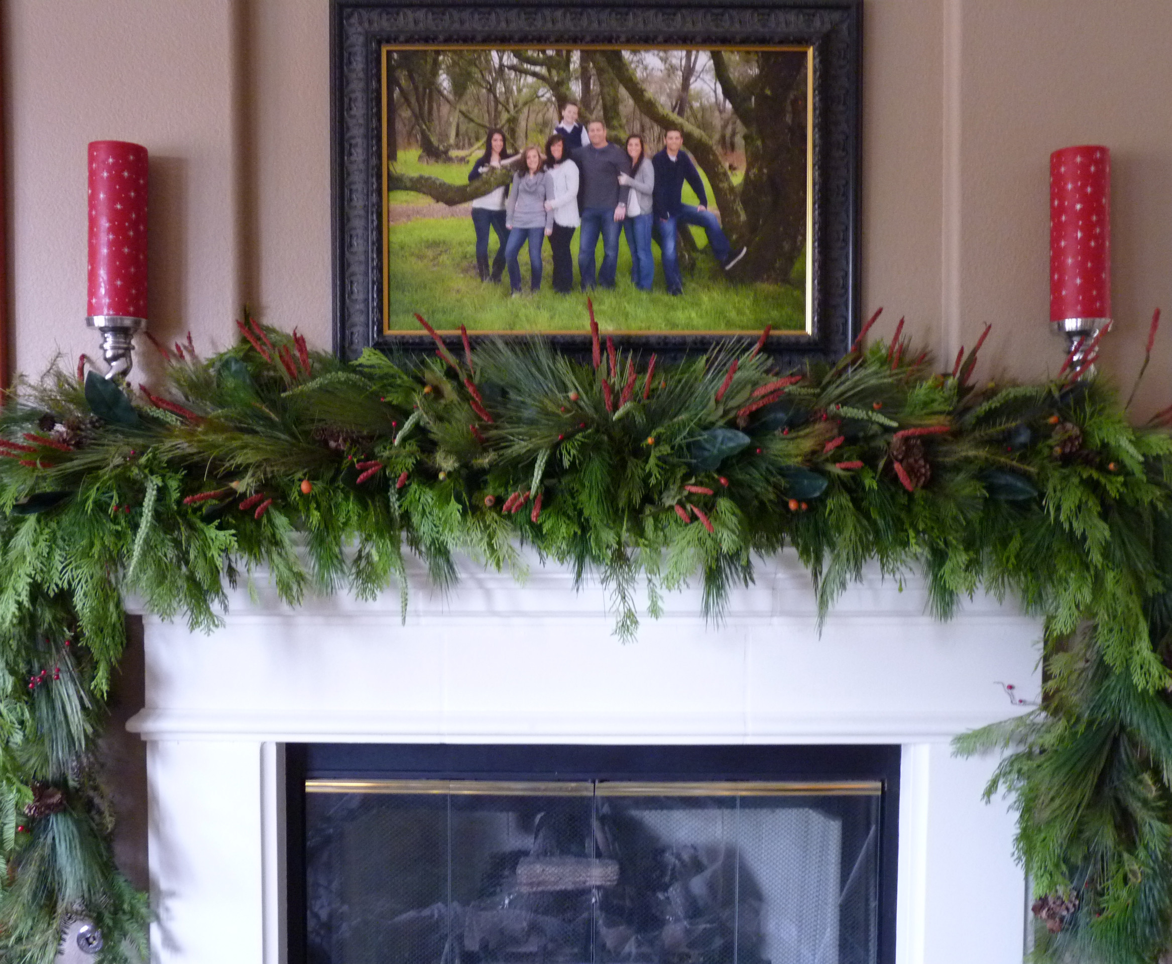Christmas Swags For Fireplace  Lush & Sophisticated Garland TGIF This Grandma is Fun