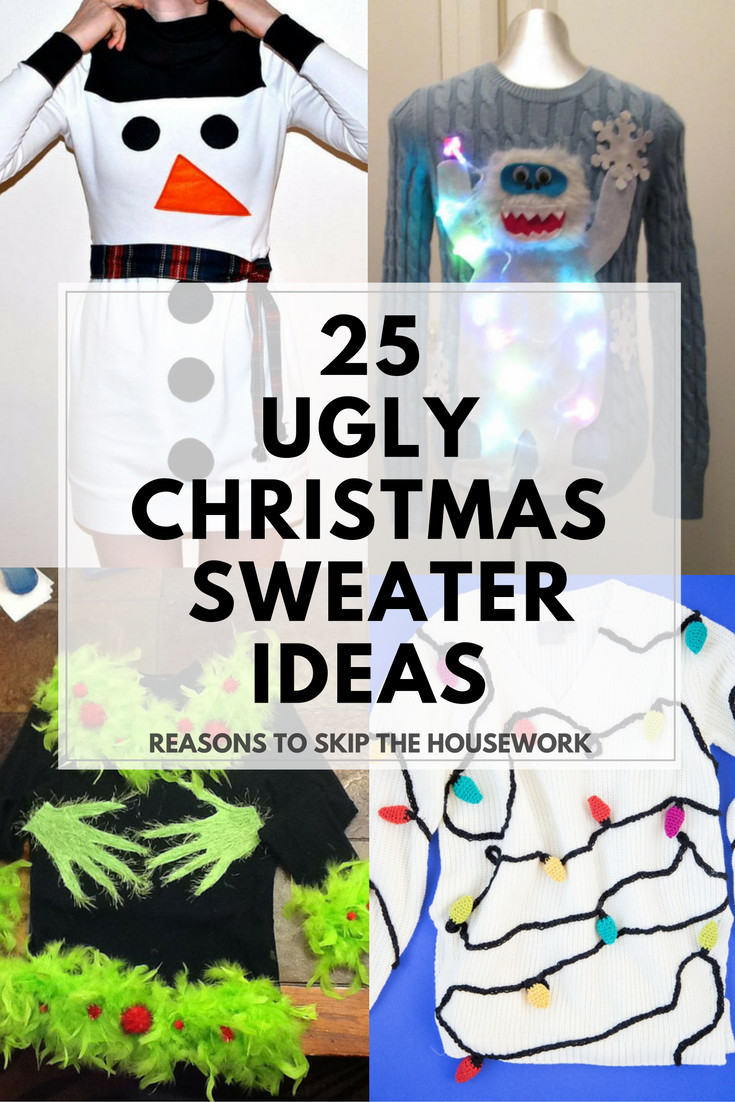 Christmas Sweater Party Ideas  Ugly Christmas Sweater Ideas Reasons To Skip The Housework