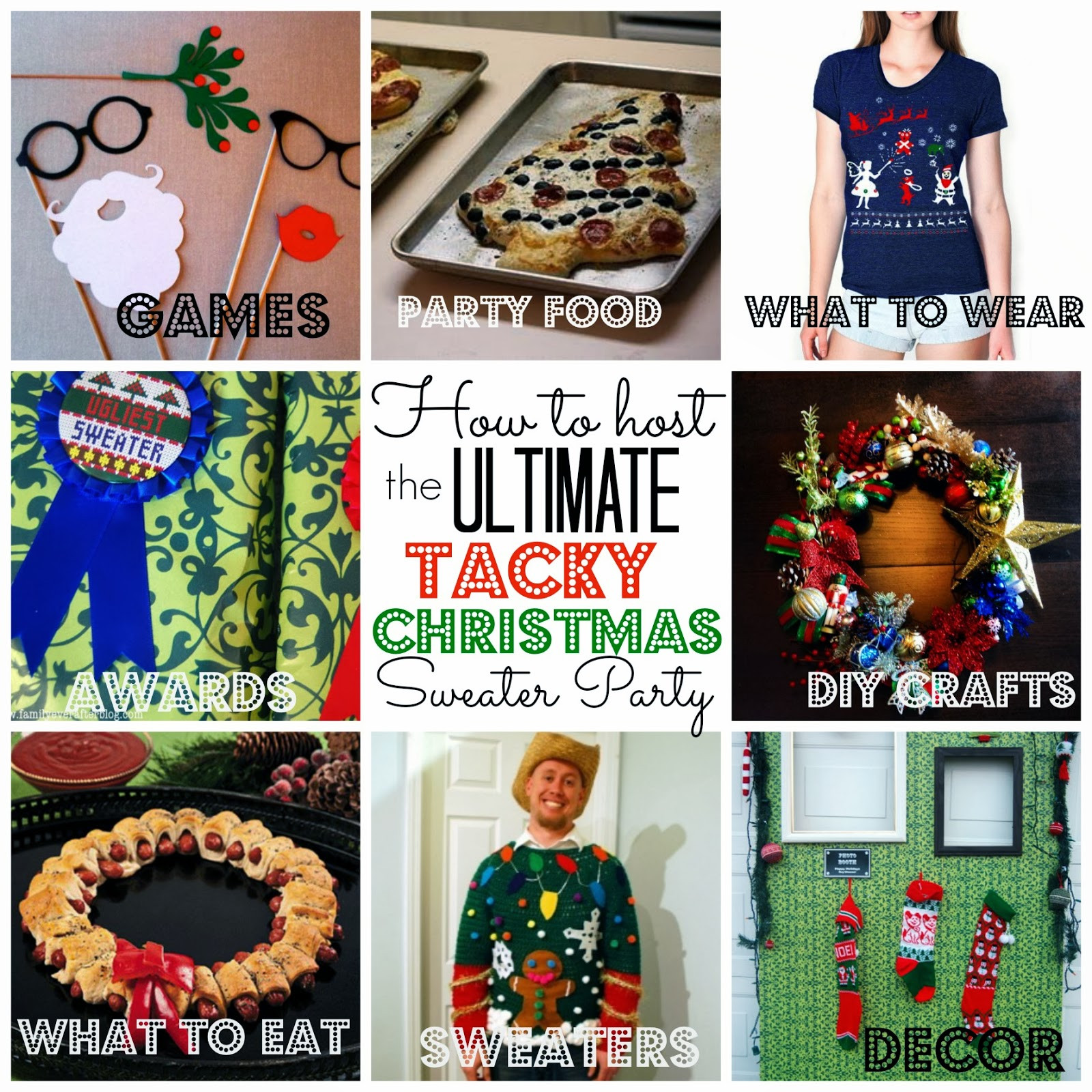 Christmas Sweater Party Ideas  Crafty Texas Girls Party Planning Tacky Christmas Sweater