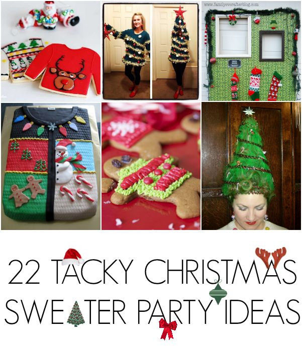 Christmas Sweater Party Ideas  1000 images about Ugly Christmas Sweater Party Ideas on