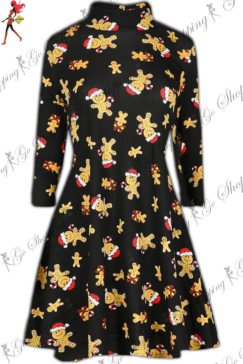 Christmas Swing Dress  Womens Novelty Christmas Swing Dress La s Xmas Santa