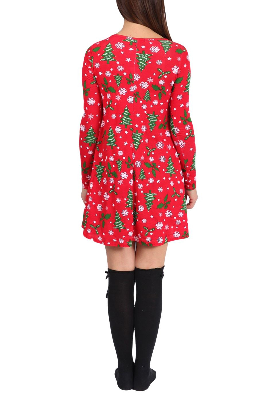 Christmas Swing Dress  Womens La s Novely Fancy Party Festive Christmas Swing