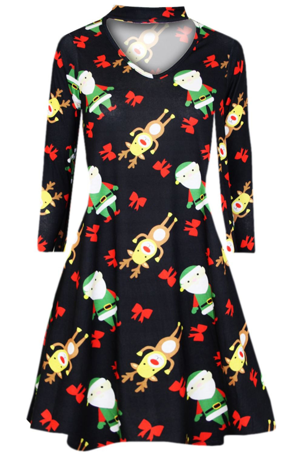 Christmas Swing Dress  Womens Kids Christmas Swing Dress Childrens Santa Gift