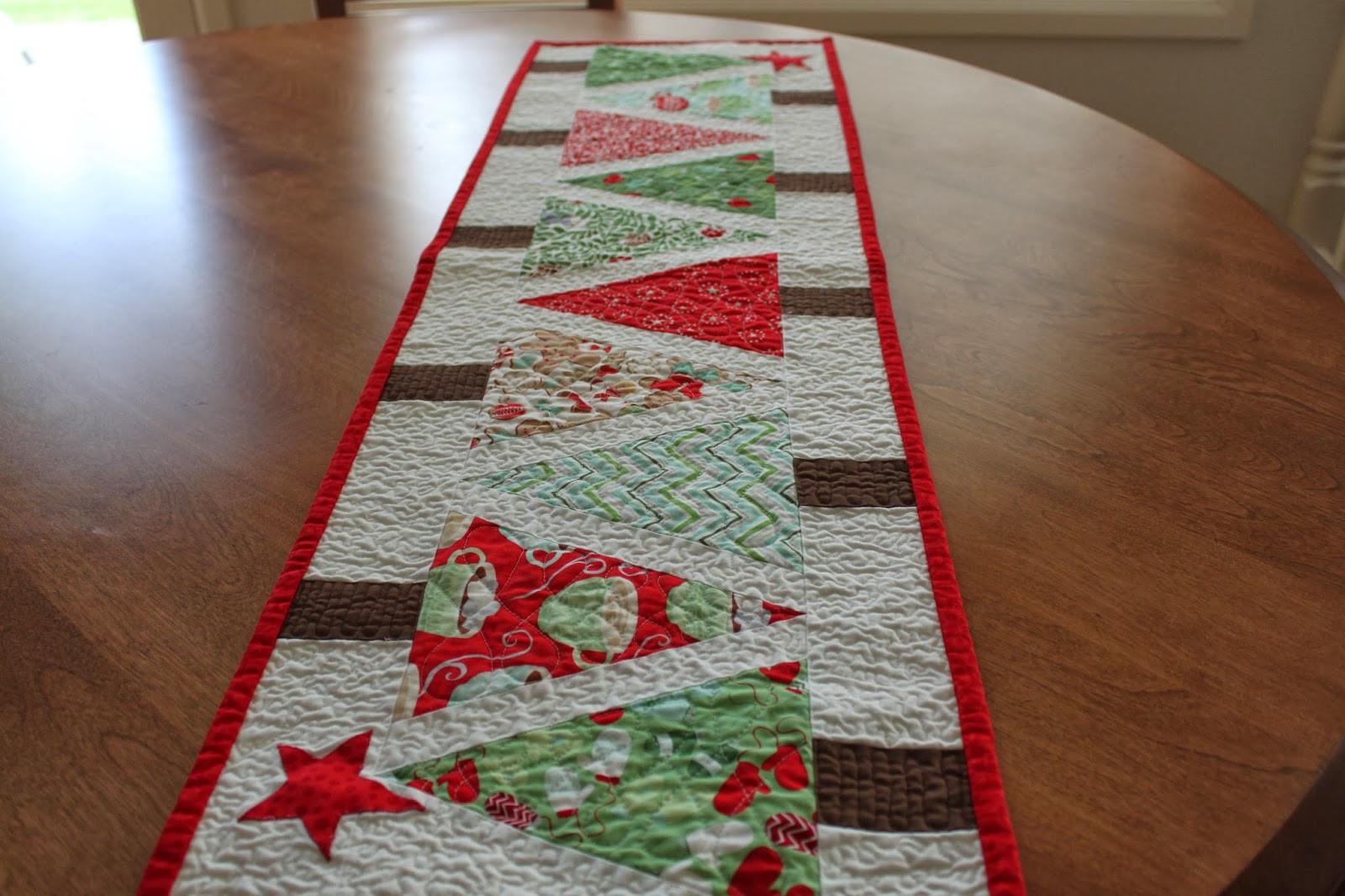 Christmas Table Runner  Sea Salt Quilts Christmas Table Runner