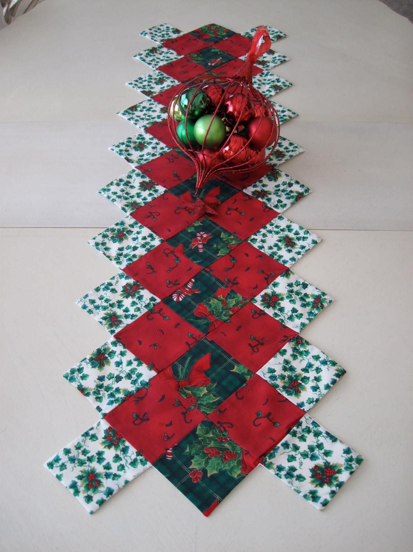 Christmas Table Runner  Red and Green Christmas Table Runner