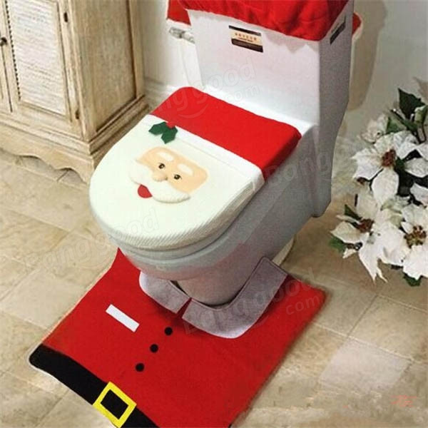 Christmas Toilet Seat  Christmas Decorations Santa Claus Bathroom Toilet Seat