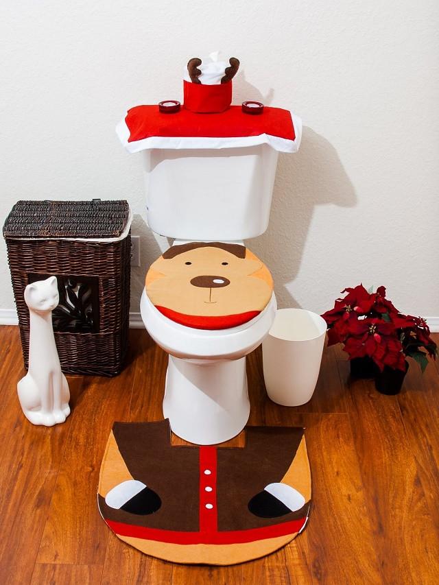 Christmas Toilet Seat  Christmas Toilet Seat Cover