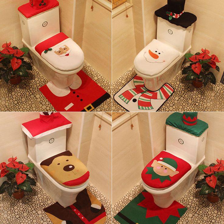 Christmas Toilet Seat  1000 ideas about Toilet Seat Covers on Pinterest