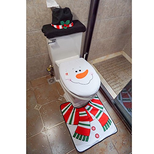 Christmas Toilet Seat  Cute Christmas Toilet Seat Cover Sets It s Christmas Time