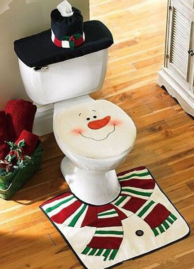 Christmas Toilet Seat  25 best ideas about Christmas Bathroom on Pinterest