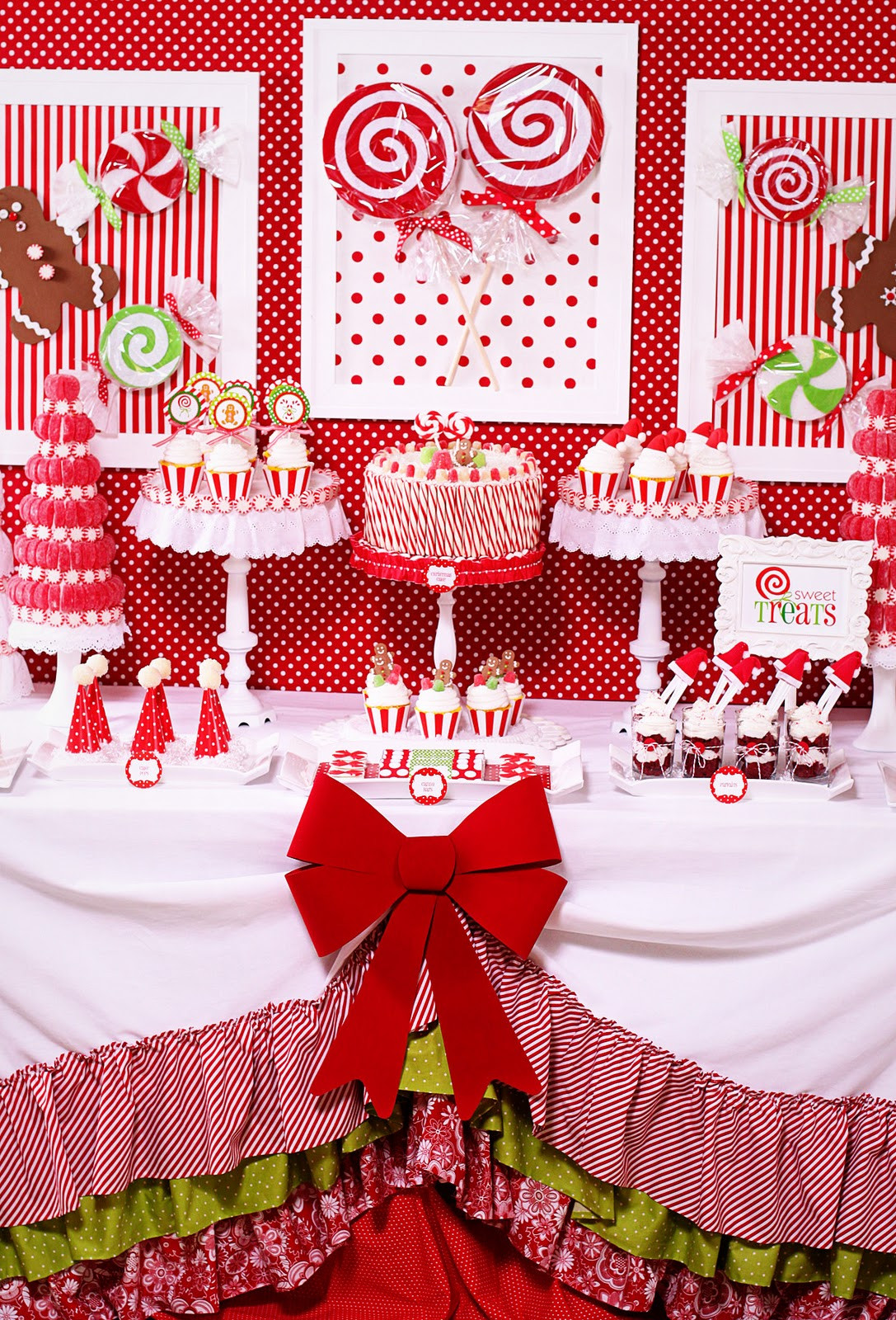 Christmas Vacation Party Ideas  Amanda s Parties To Go Candy Christmas Dessert Table