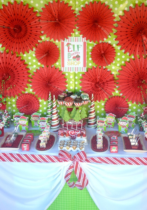 Christmas Vacation Party Ideas  An Elf Cookie Decorating Holiday Kids Party Party Ideas