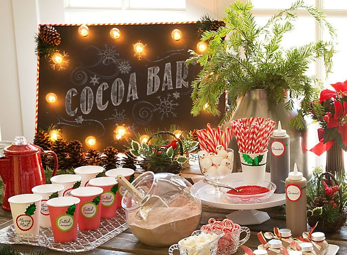 Christmas Vacation Party Ideas  Hot Chocolate Station Ideas Christmas Party Ideas
