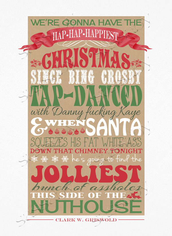 Christmas Vacation Quotes  Christmas Vacation Poster Red & Green Sassaby Parties