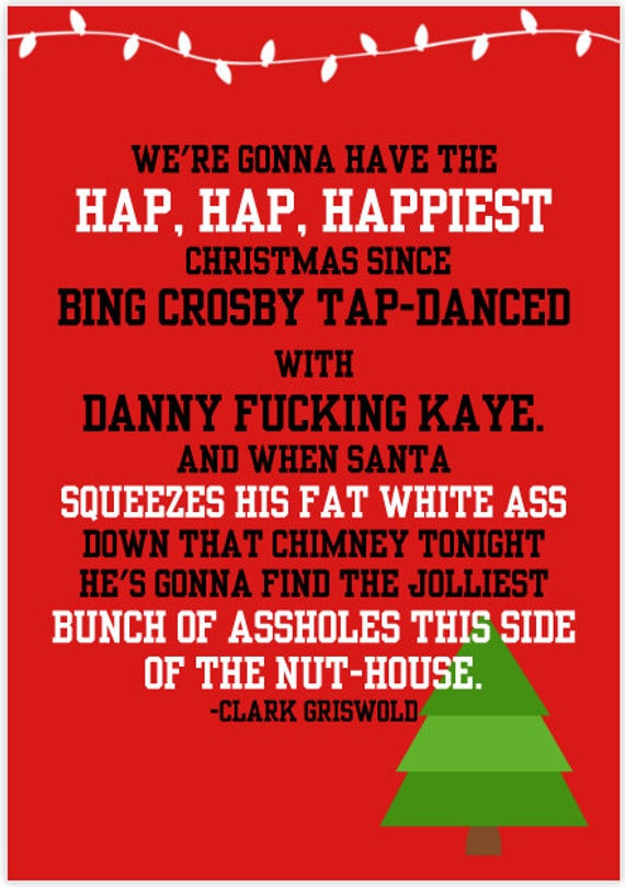 Christmas Vacation Quotes  National Lampoons Christmas Vacation Card by