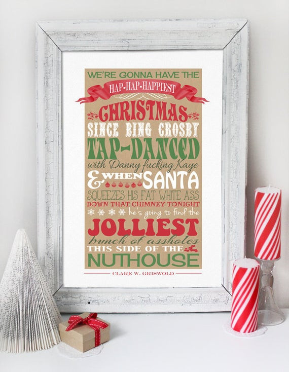 Christmas Vacation Quotes  Christmas Vacation Quote INSTANT DOWNLOAD by SassabyParties