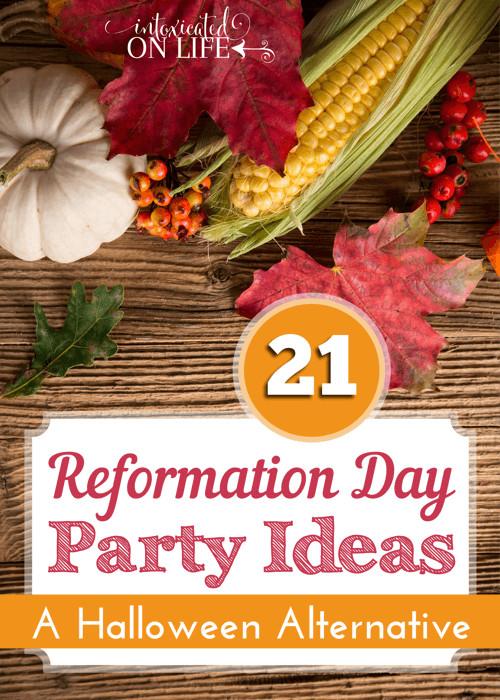 Church Halloween Party Ideas  Reformation Day Party Ideas A Halloween Alternative