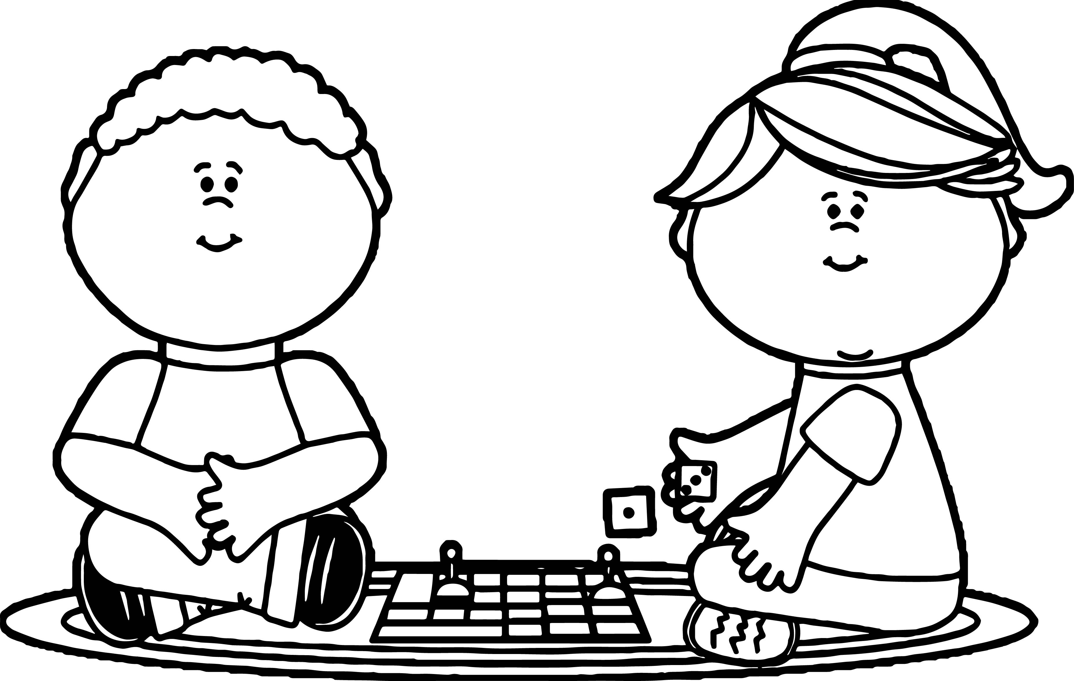 Coloring Pages For Kids Games  Board Game Coloring Pages