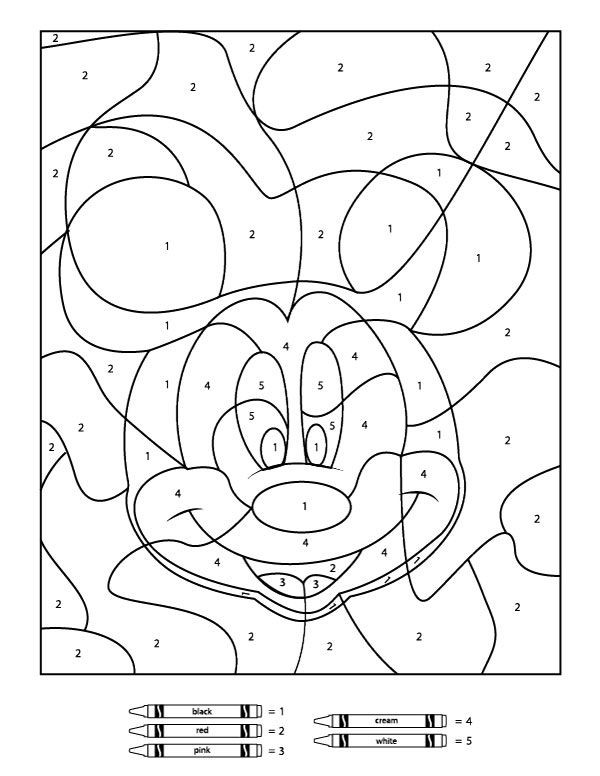 Coloring Pages For Kids Games  Your Children Will Love These Free Disney Color By Number