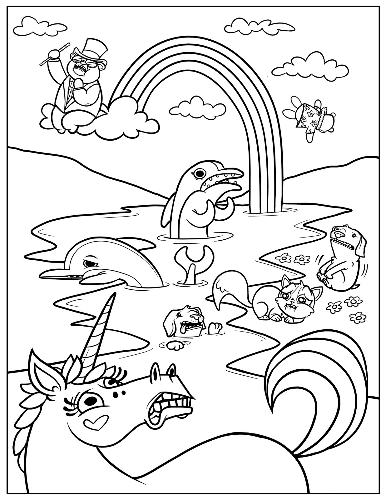 Coloring Pages For Kids Games  Free Printable Rainbow Coloring Pages For Kids