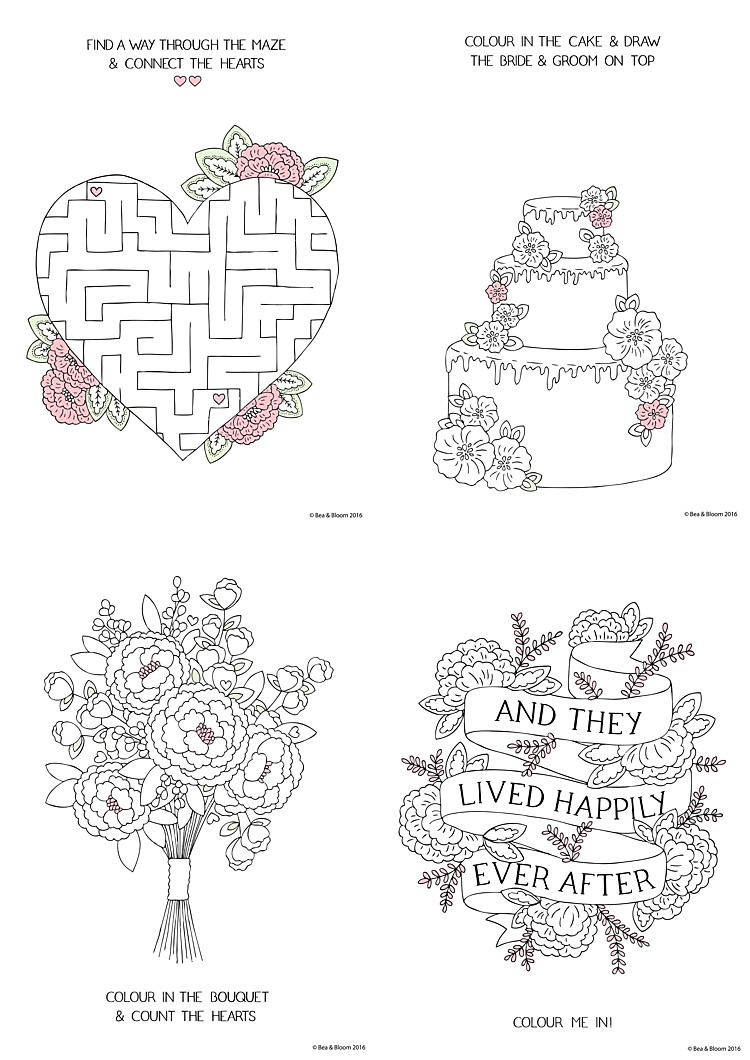 Coloring Pages For Kids Games  Free Download Printable Wedding Colouring Sheets for Kids