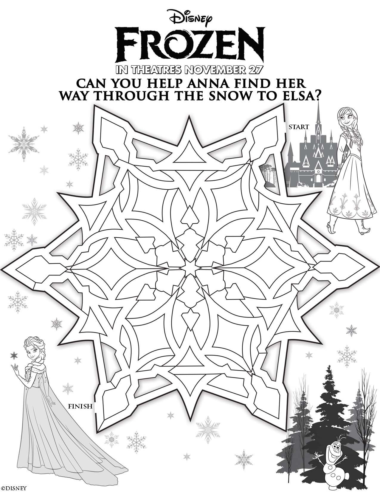 Coloring Pages For Kids Games  Disney s Frozen Free Printables For Kids Lady and the Blog