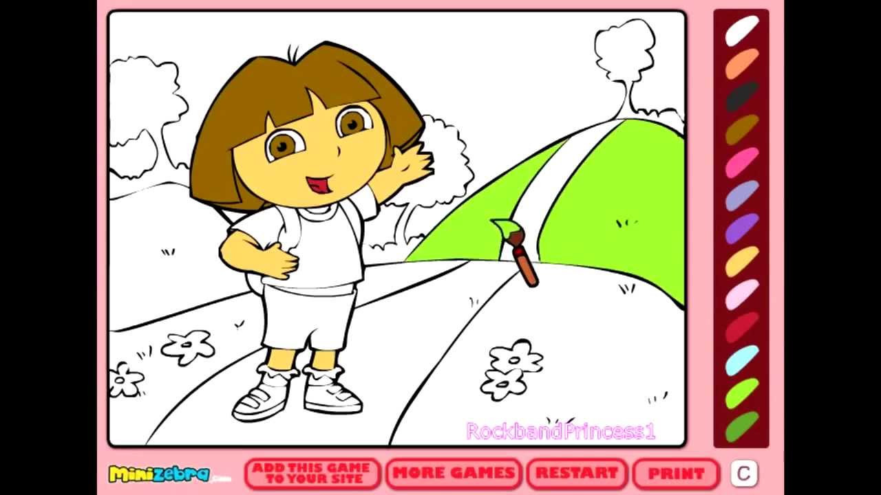 Coloring Pages For Kids Games  Free Dora Coloring Games line Coloring Pages For Kids