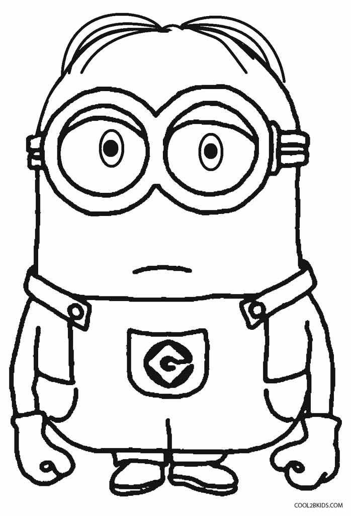 Coloring Pages Kids  Printable Despicable Me Coloring Pages For Kids