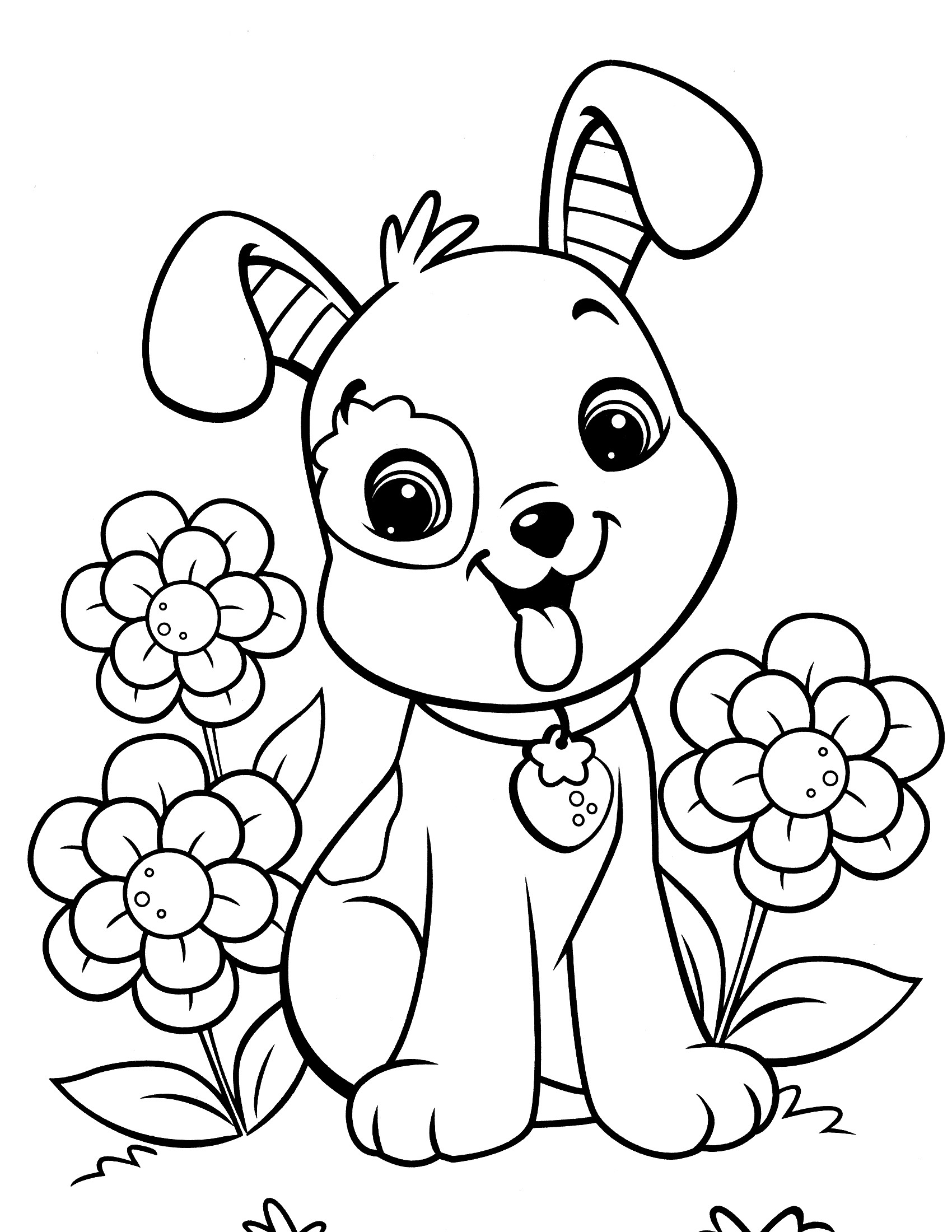 Coloring Pages Kids  Puppy Coloring Pages Best Coloring Pages For Kids