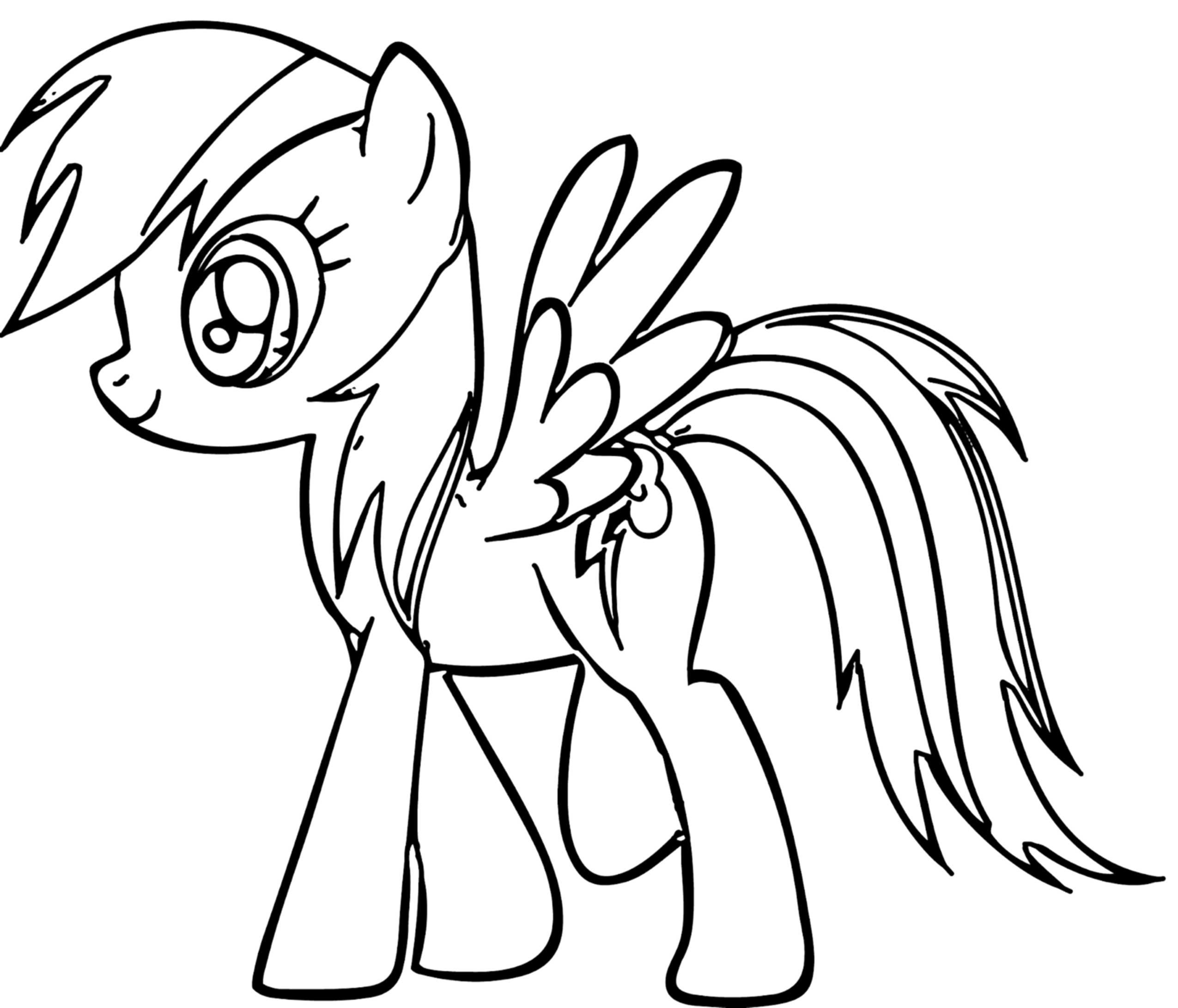 Coloring Pages Kids  Rainbow Dash Coloring Pages Best Coloring Pages For Kids