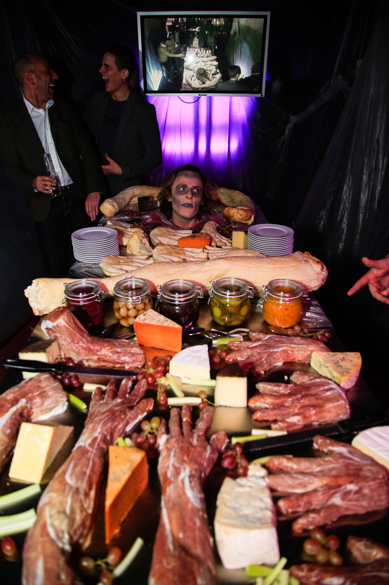 """Corporate Halloween Party Ideas  """"Kill Room"""" Buffet from the """"Nightmare Before Christmas"""