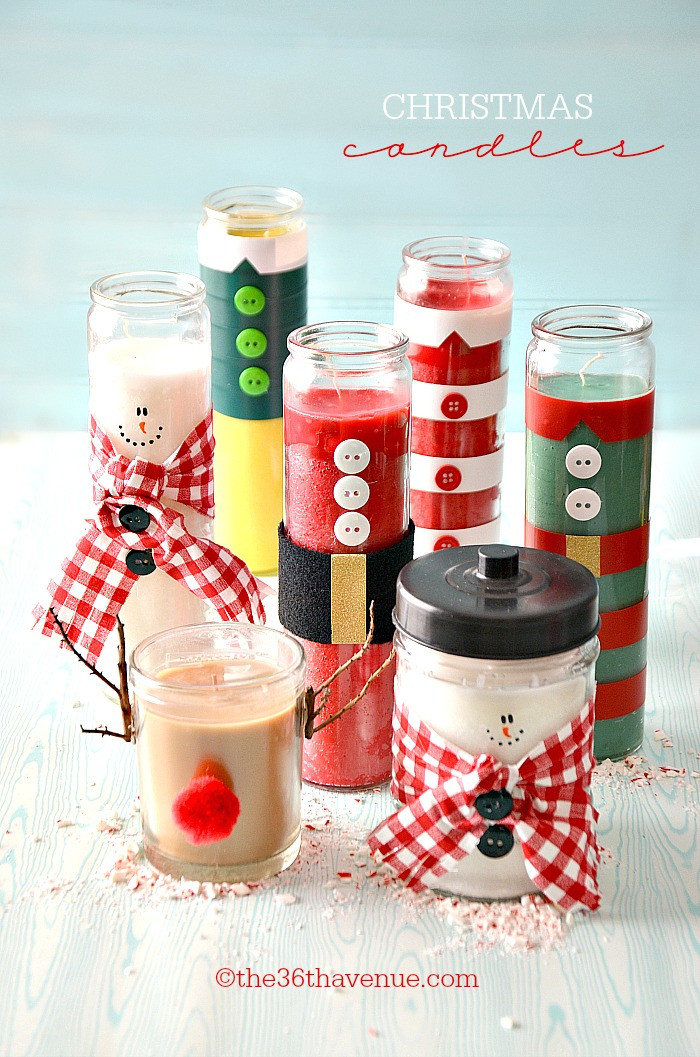Craft Ideas For Christmas Gifts  Christmas Gifts DIY Candles The 36th AVENUE