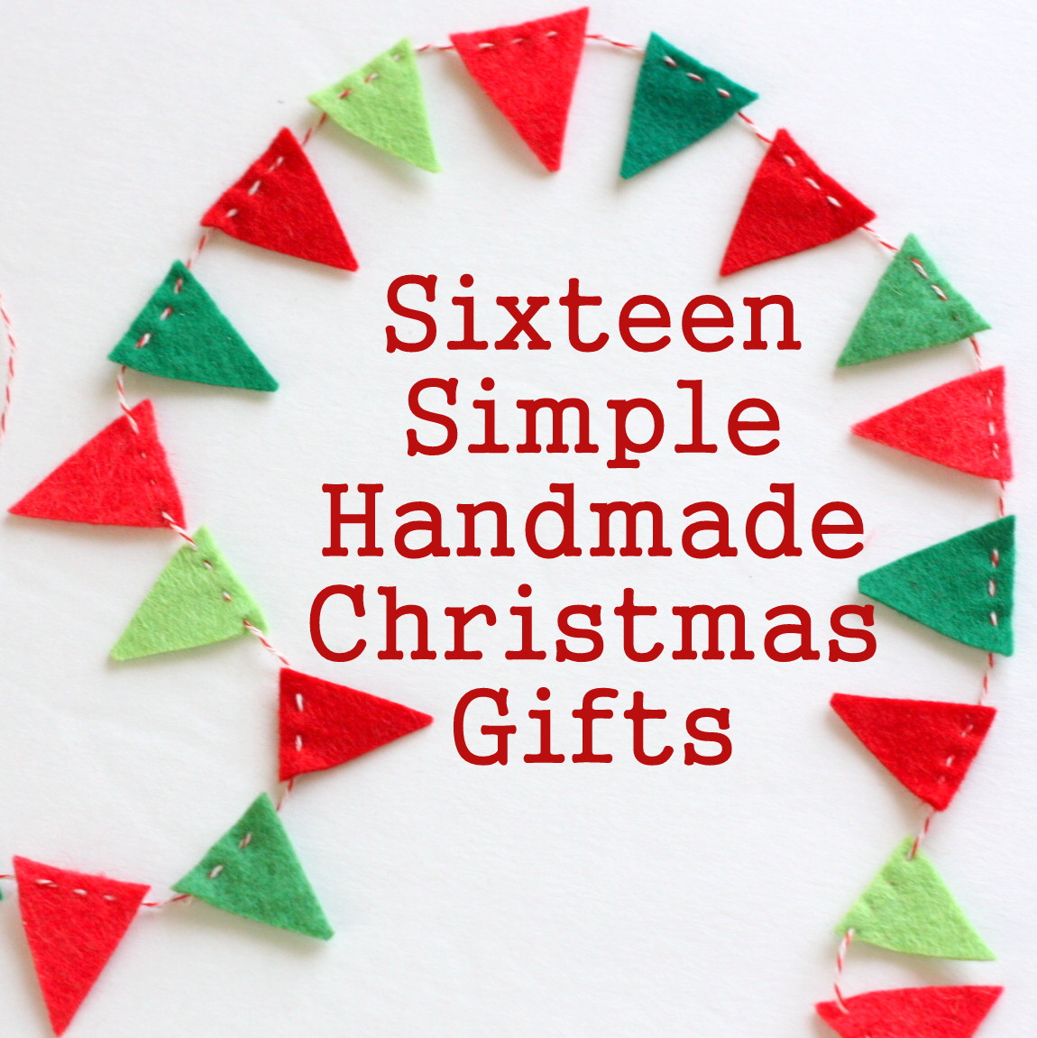 Craft Ideas For Christmas Gifts  16 Simple Handmade Christmas Gift tutorials