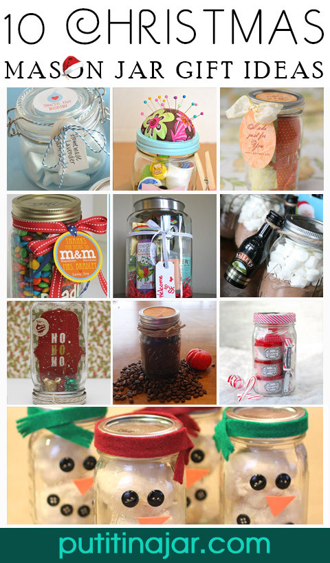 Craft Ideas For Christmas Gifts  10 Christmas Cookies & Mixes in Mason Jars
