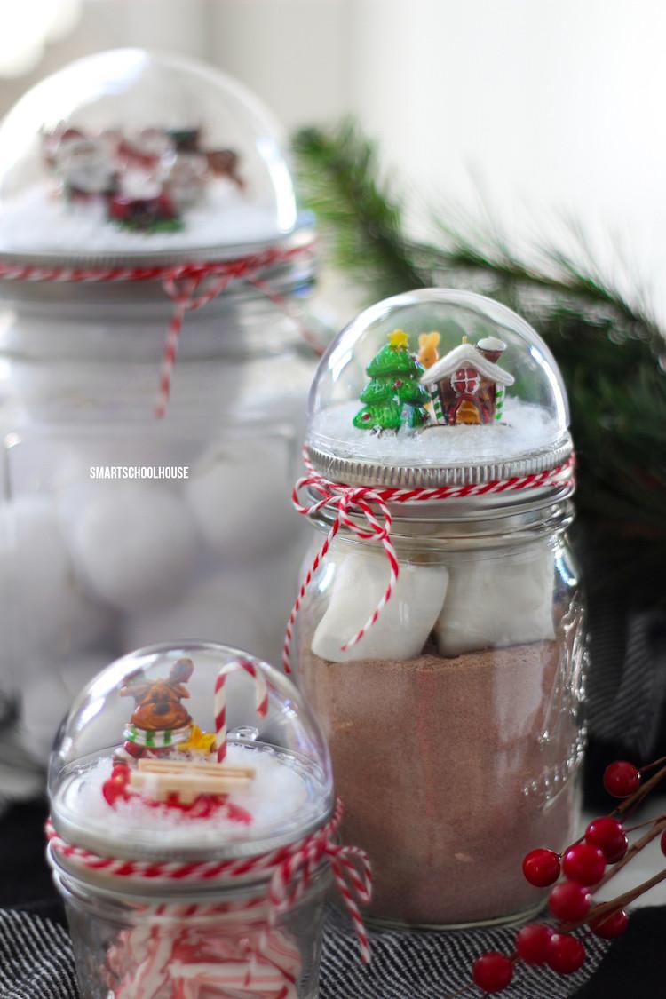 Craft Ideas For Christmas Gifts  Mason Jar Lid Snow Globe Smart School House