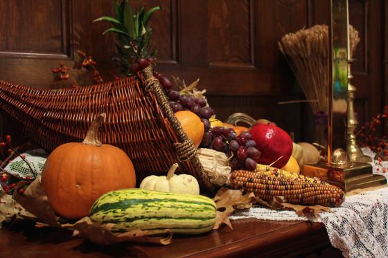 Creative Worship Ideas For Thanksgiving  Cornucopia Altar 2014